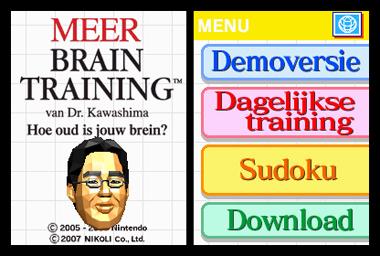 Meer Braintraining - Keuzemenu