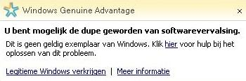 Microsoft wga-melding