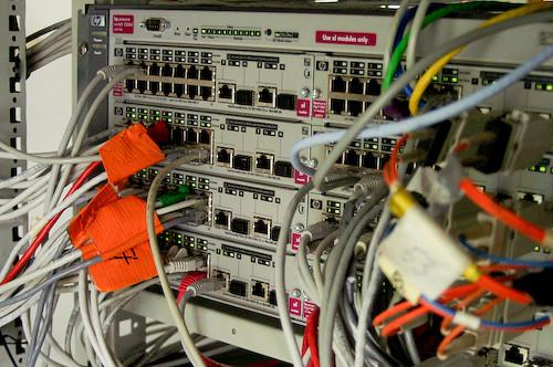 Campzone 2007 - HP ProCurve 5308xl met 128 gigabitpoorten