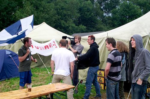 Campzone 2007 - tweede aflevering van CCTV Campzone 2007 wordt opgenomen