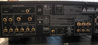 Denon DVD-3800BDCI blu-ray-speler (achterzijde)
