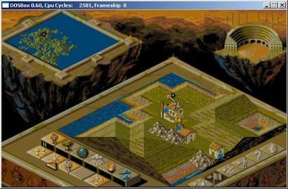 De klassieker Populus in DOSBox (410 pix)