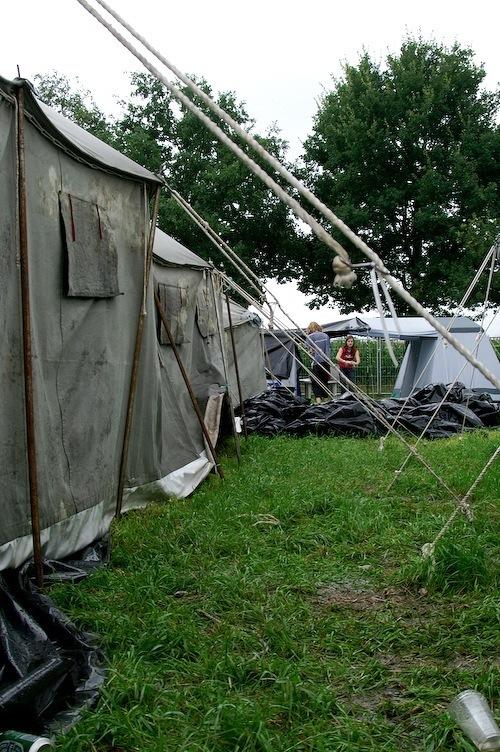 Campzone 2007 - verstormde tent