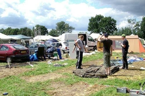 Campzone 2007 - bijna klaar met inpakken