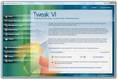 TweakVI screenshot (410 pix)