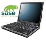 Lenovo ThinkPad met Suse-logo