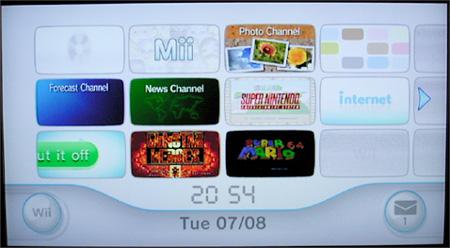 Nintendo Wii - update 3.0: nieuw dashboard