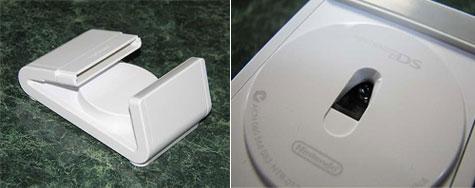 Nintendo DS schuifbesturing - Bovenkant en close-up onderkant