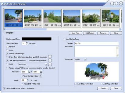 FastStone Image Viewer - slideshow builder (410 pix)