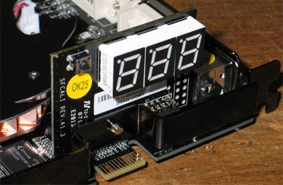 Led-display van Calibre 8600 GT 512MB