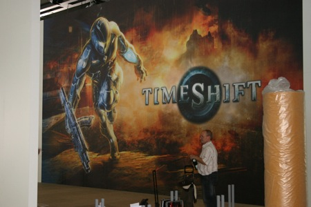Games Convention - Opbouw Timeshift stand