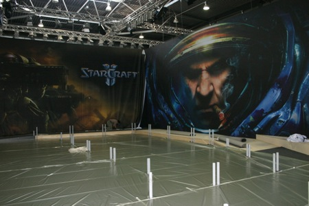 Games Convention - Opbouw StarCraft 2 stand