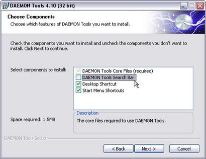 Daemon Tools 4.10 screenshot (410 pix)