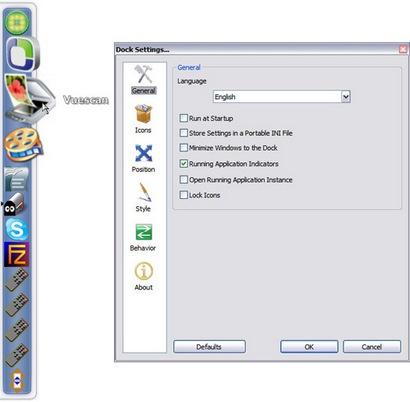 RocketDock screenshot (410 pix)