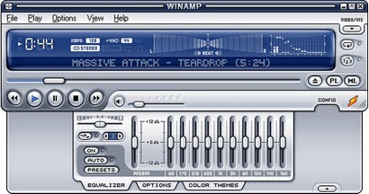 Winamp 5 breed screenshot (410 pix)