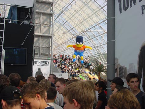 Games Convention - Simpsons game reclame