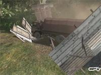 Crysis-vrachtwagen baant zich een weg