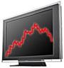 Sony Bravia lcd-televisie met rode grafiek (90px)