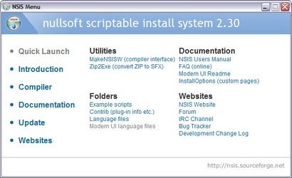 Nullsoft Scriptable Install System 2.30 screenshot (410 pix)