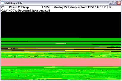 JkDefrag 3.17 screenshot (410 pix)
