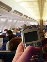 Telefoon in vliegtuig