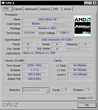 CPU-Z 1.41