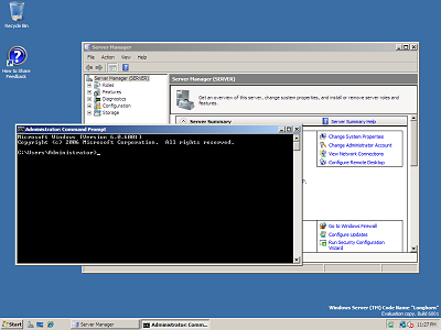Windows Server 2008 beta 3 build 6001