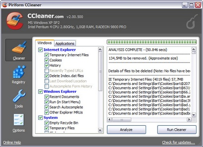 CCleaner 2.00.500 screenshot (410 pix)