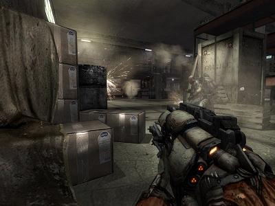 Enemy Territory: Quake Wars - pakhuis