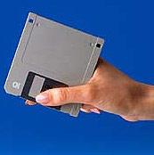 Floppy in hand