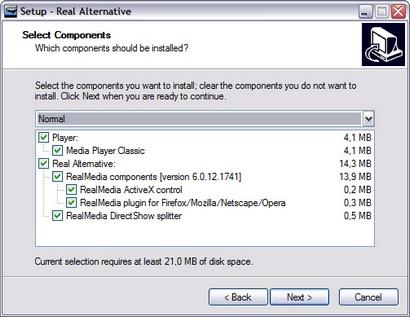 Real Alternative 1.60 - installatie screenie (410 pix)
