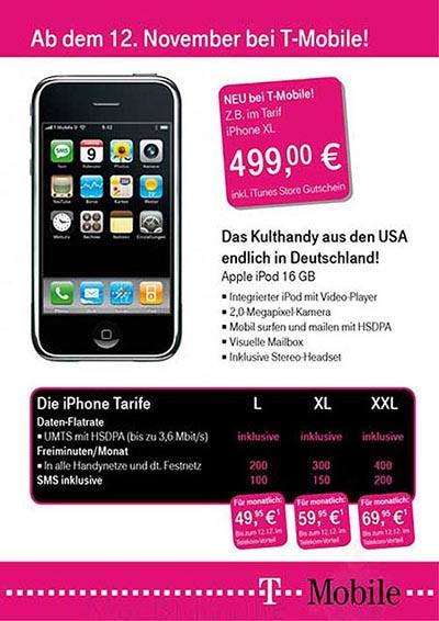 Gelekte (vervalste?) T-Mobile advertentie
