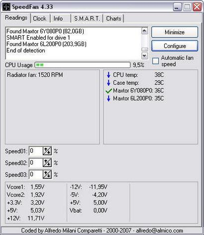 SpeedFan 4.33 screenshot (410 pix)