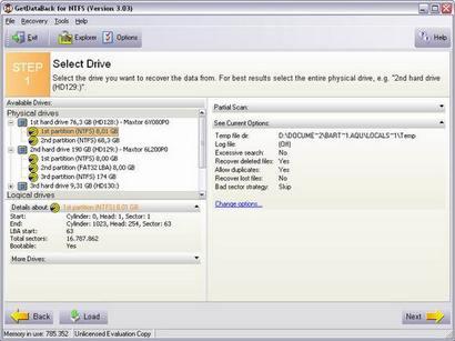 GetDataBack screenshot (410 pix)