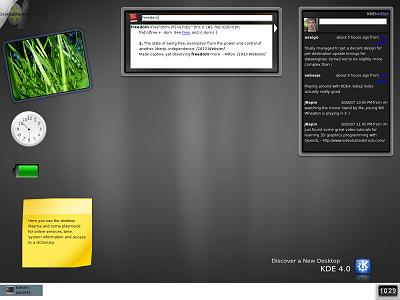 KDE 4.0 beta 2 - desktop (400px)