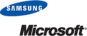 Samsung- en Microsoft-logo