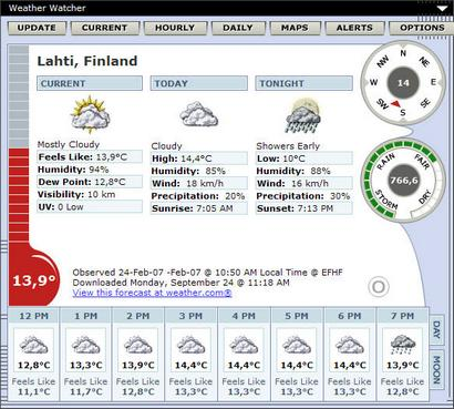 Weather Watcher 5.6.24 screenshot (410 pix)