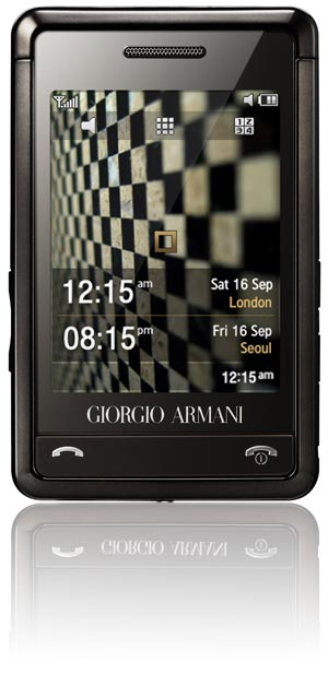 Giorgio Armani-Samsung mobiele telefoon