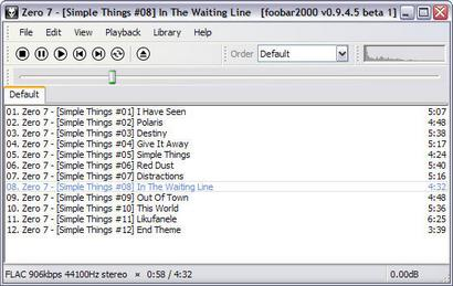 foobar2000 0.9.4.5 beta 1 screenshot (410 pix)