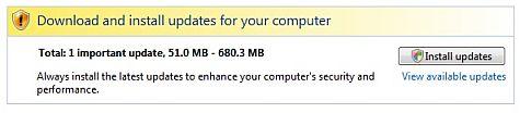 Vista SP1 download automatic