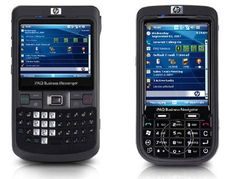 iPaq 914 Business Messenger (links) en iPaq 614 Business Navigator (rechts)