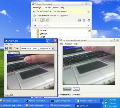 SmartCam in Yahoo Messenger