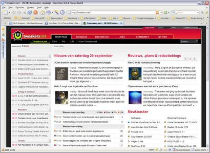 Maxthon 2.0.4 build 5707 screenshot (410 pix)