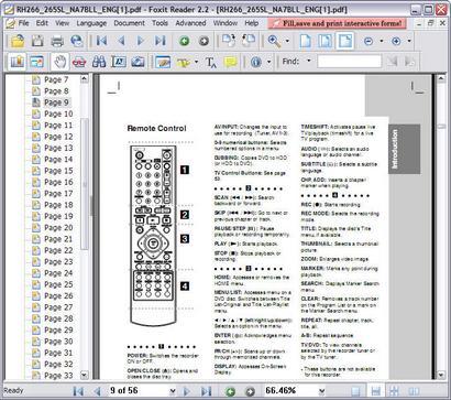 Foxit Reader 2.2 build 2129 screenshot (410 pix)