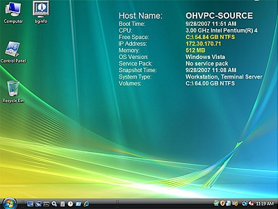 BgInfo op Windows Vista
