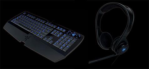 Razer Lycosa-toetsenbord en Piranha-headset