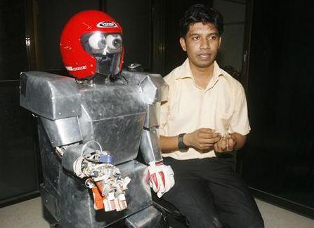 Bengaalse robot met uitvinder