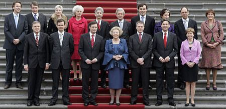 Kabinet Balkenende-4 op het bordes