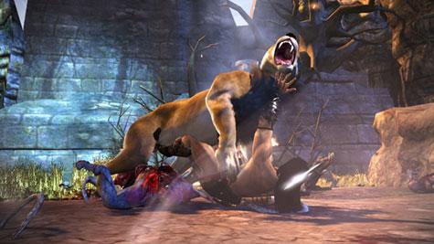 Conan - gevecht met leeuw