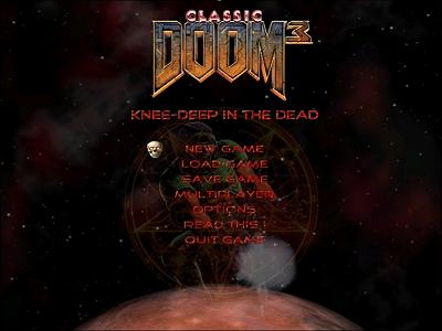 Classic Doom for Doom 3 - beginscherm